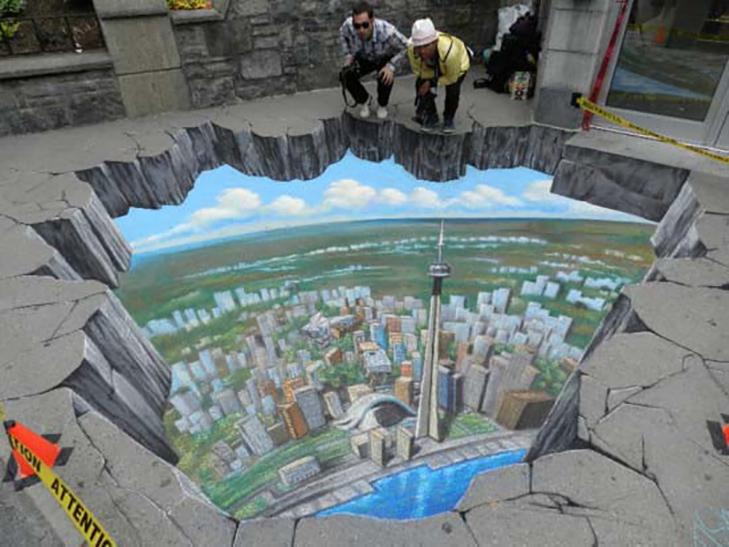 40 неймовірних 3D малюнків на асфальті - фото 1