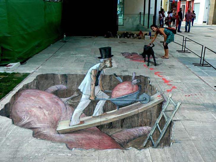40 неймовірних 3D малюнків на асфальті - фото 22