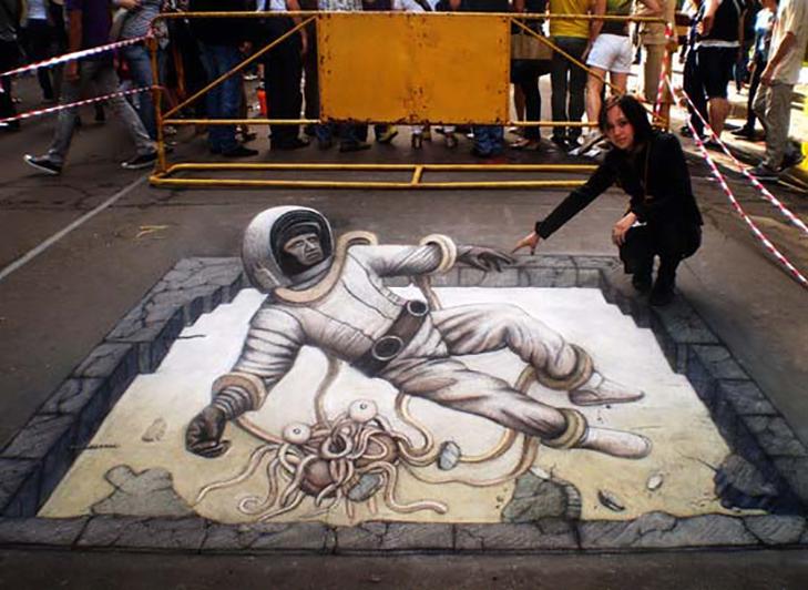 40 неймовірних 3D малюнків на асфальті - фото 8