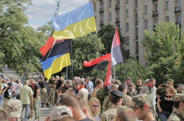 """""""Правий сектор"""" збирається на віче на Майдані (ФОТО) - фото 1"""