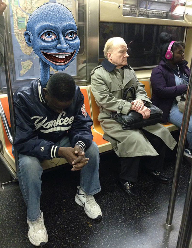 Як художник з Нью-Йорку нацьковує монстрів на пасажирів метро - фото 12
