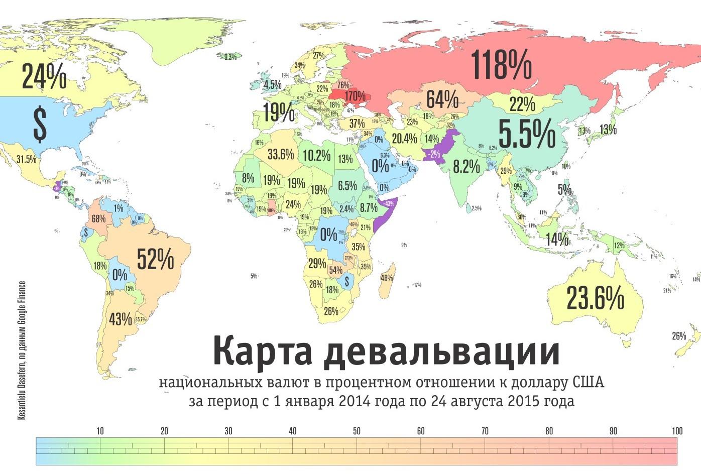 """Україна стала """"чемпіоном світу"""" з девальвації. Росіяни - другі - фото 1"""
