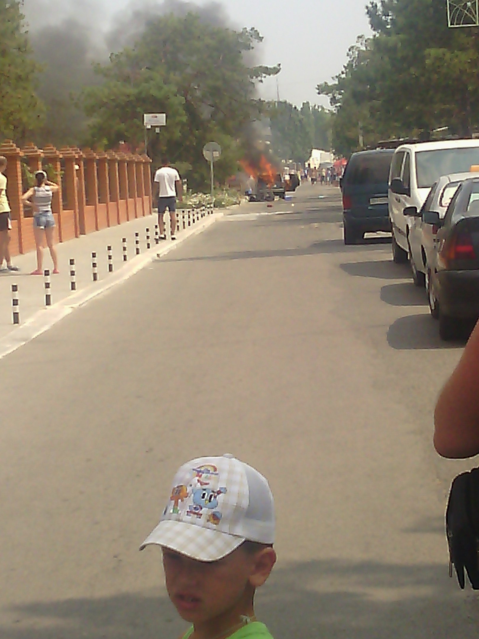 На Миколаївському курорті біля бази відпочинку загорілось авто - фото 1