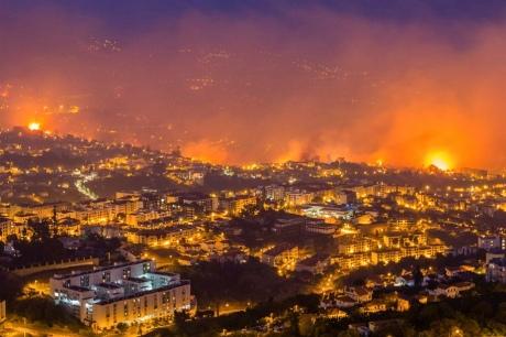 Португальская Мадейра впламени: мощнейший пожар добрался дожилых районов