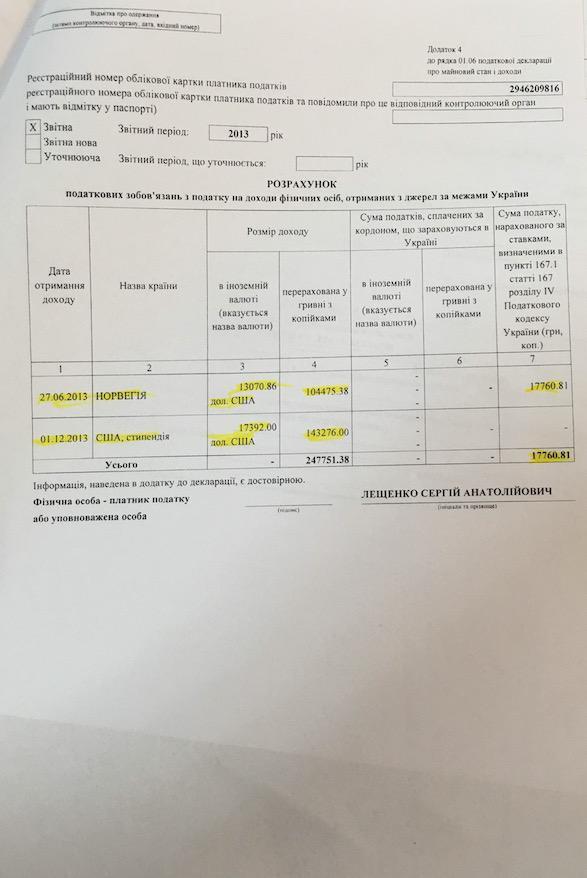 Лещенко, Притула та Топольська за 18 років заробили менше, ніж коштує його квартира (ДОКУМЕНТ) - фото 16