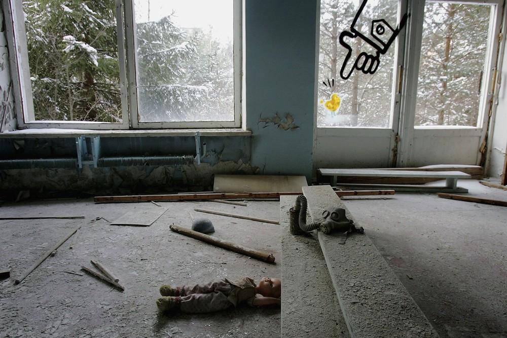 Чорнобиль перетворили на моторошну арт-зону - фото 5