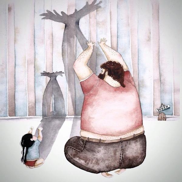 Миколаївська художниця викликала в світі фурор ніжними ілюстраціями батьківської любові - фото 10