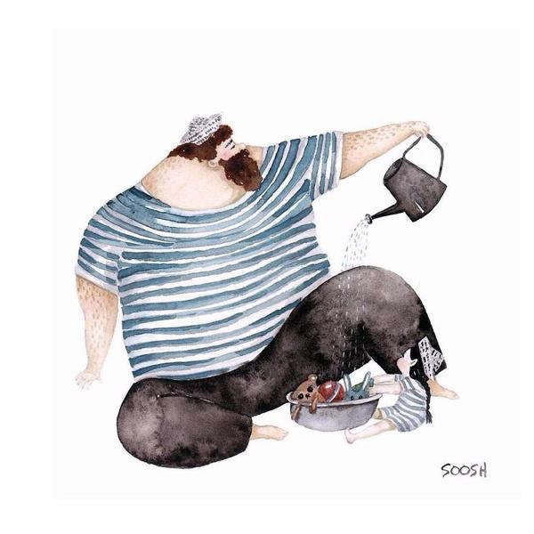 Миколаївська художниця викликала в світі фурор ніжними ілюстраціями батьківської любові - фото 12