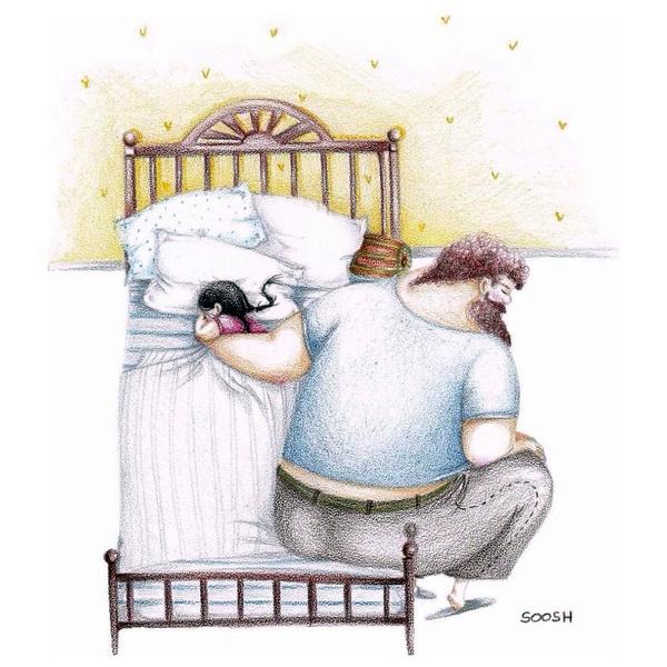 Миколаївська художниця викликала в світі фурор ніжними ілюстраціями батьківської любові - фото 14