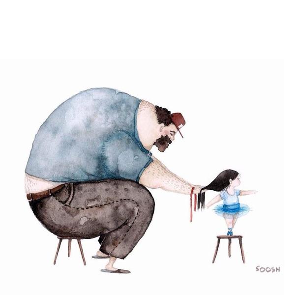Миколаївська художниця викликала в світі фурор ніжними ілюстраціями батьківської любові - фото 2