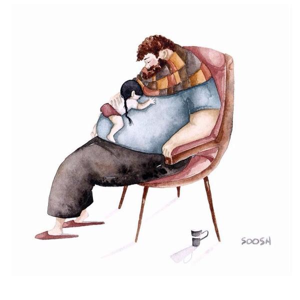 Миколаївська художниця викликала в світі фурор ніжними ілюстраціями батьківської любові - фото 4