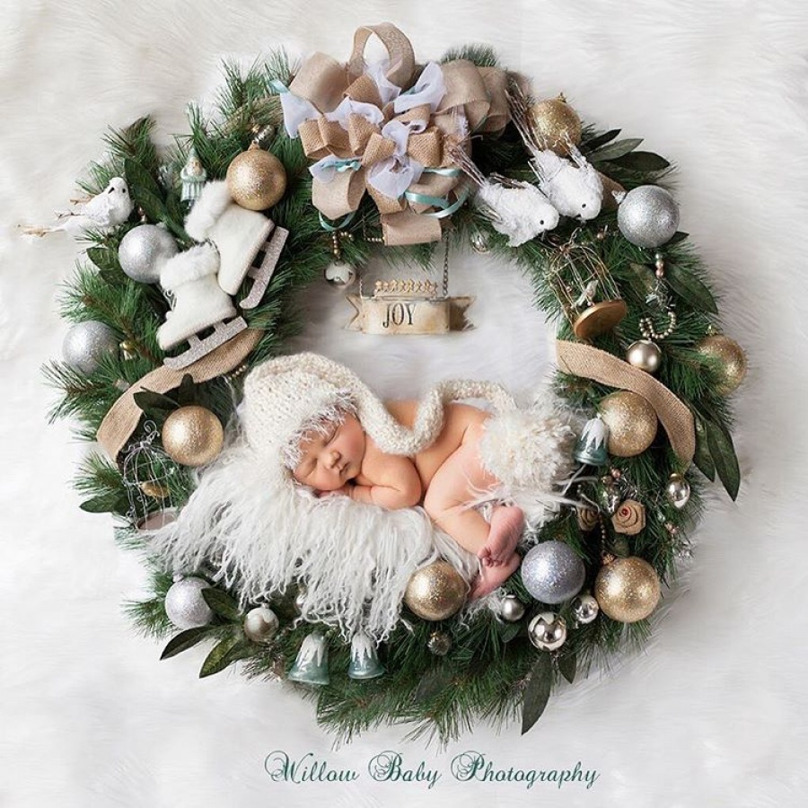 ТОП-15 надзвичайних різдвяних фотосесій немовлят  - фото 10