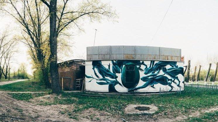 У Чорнобилі з'явився перший мурал  - фото 1