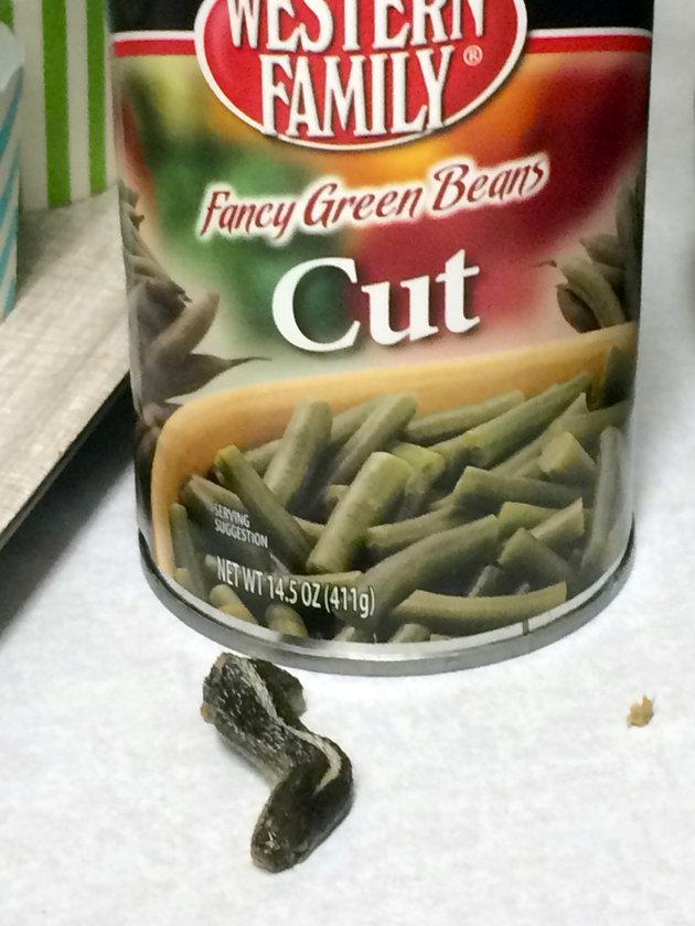 У США жінка виявила у банці квасолі голову змії - фото 1