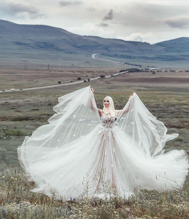 ТОП-10 неймовірних весільних хіджабів  - фото 8