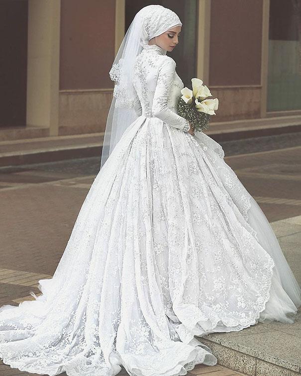 ТОП-10 неймовірних весільних хіджабів  - фото 10