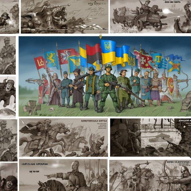 Український художник створив захоплюючий календар з битвами за Україну - фото 1