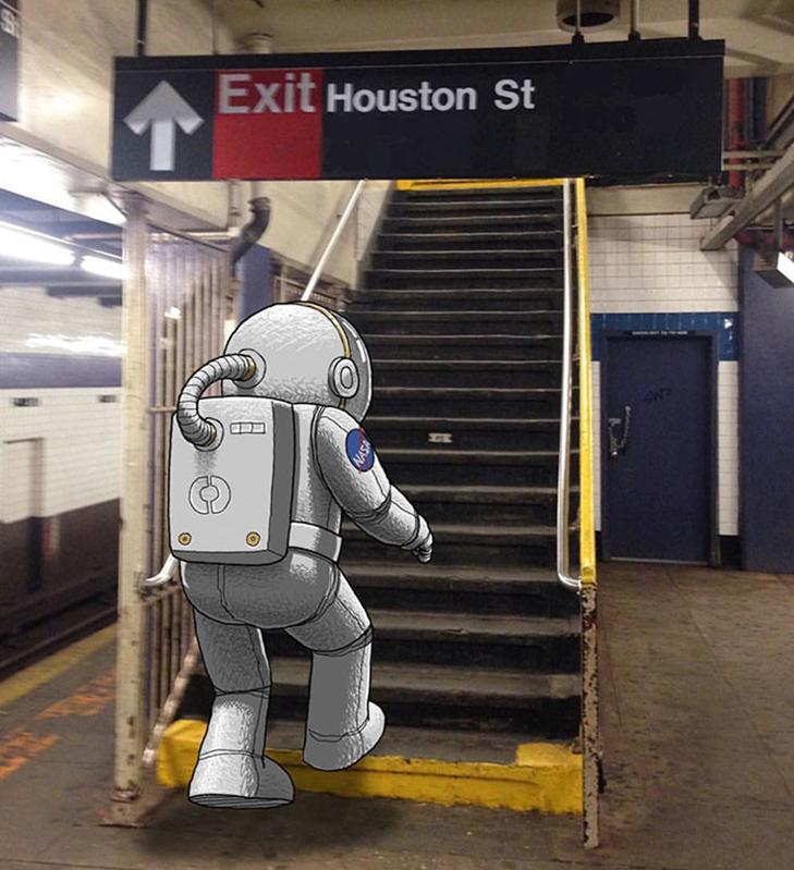 Як художник з Нью-Йорку нацьковує монстрів на пасажирів метро - фото 15
