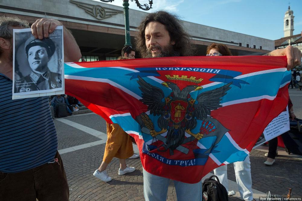 """У Венеції українці та росіяни влаштували бійку через прапори """"ДНР"""" - фото 8"""