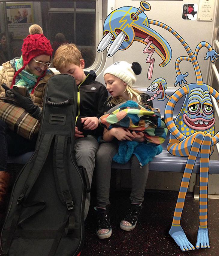 Як художник з Нью-Йорку нацьковує монстрів на пасажирів метро - фото 17