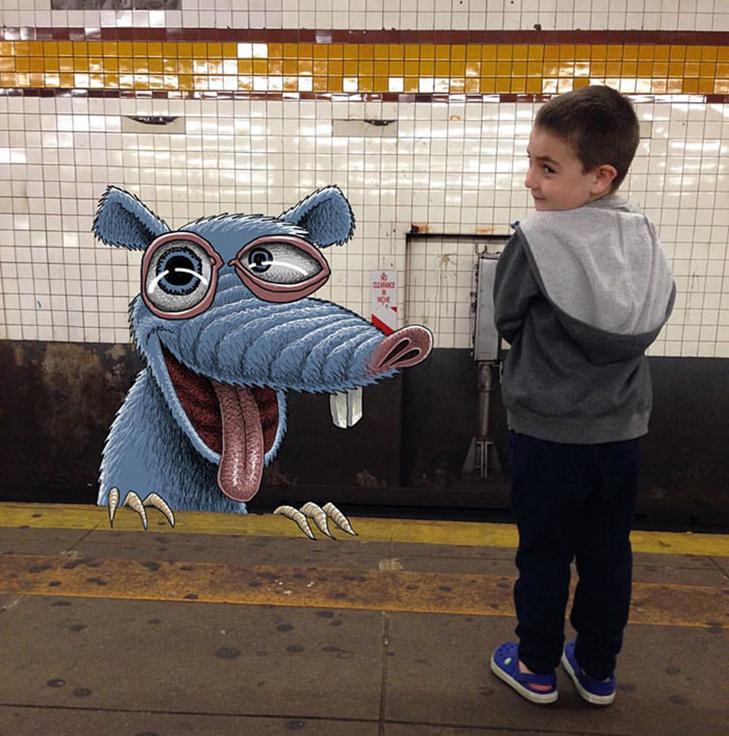Як художник з Нью-Йорку нацьковує монстрів на пасажирів метро - фото 11
