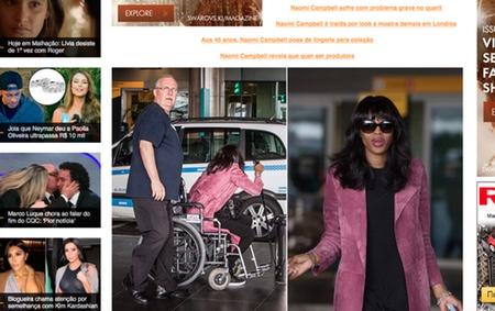 Наомі Кемпбелл пересувається в інвалідному візку - фото 1