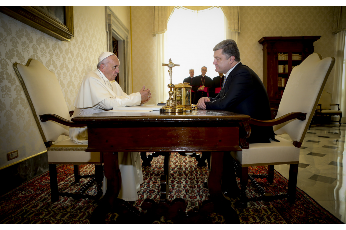 Як Порошенко зустрічався з Папою  - фото 3