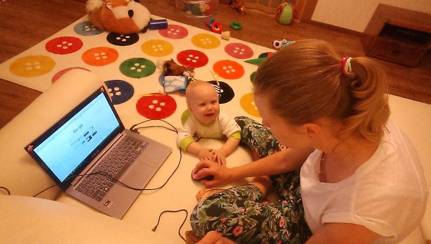 Росіянка з селфі-палкою показала, як насправді виглядає день матусі - фото 11