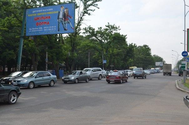 У Миколаєві через ДТП розтягнувся затор