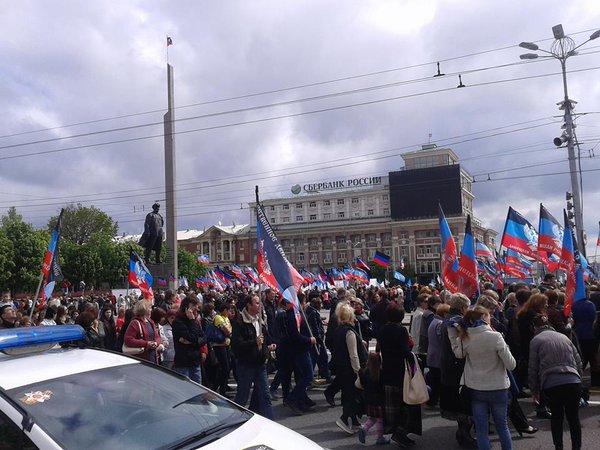 """""""Первомам"""" нашвидкуруч: Як в окупованому Донецьку відзначали """"свято трудящих"""" - фото 5"""