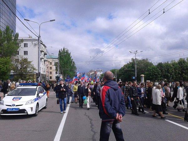 """""""Первомам"""" нашвидкуруч: Як в окупованому Донецьку відзначали """"свято трудящих"""" - фото 2"""