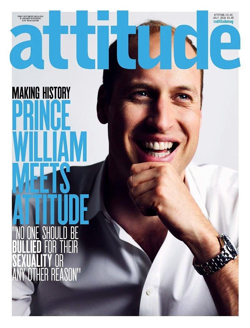 Після подій в Орландо принц Вільям став обличчям журналу для геїв - фото 1