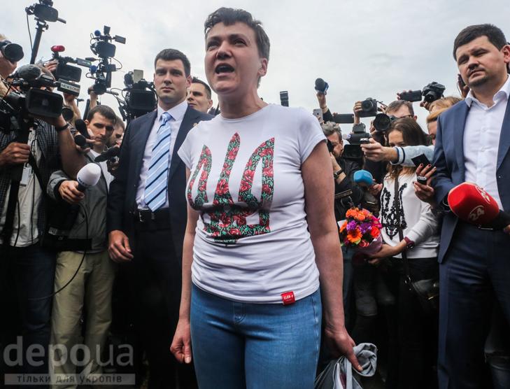 Перші кроки Надії Савченко на рідній землі (ФОТОРЕПОРТАЖ) - фото 2