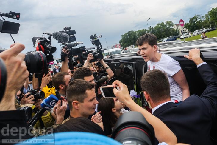 Перші кроки Надії Савченко на рідній землі (ФОТОРЕПОРТАЖ) - фото 3