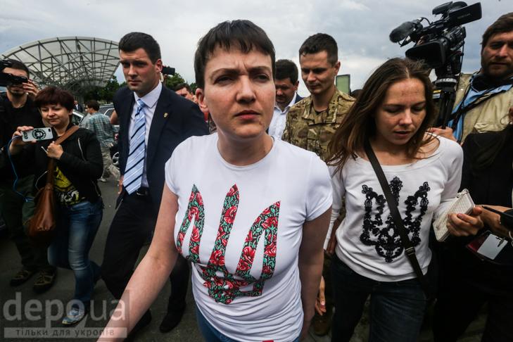 Перші кроки Надії Савченко на рідній землі (ФОТОРЕПОРТАЖ) - фото 6