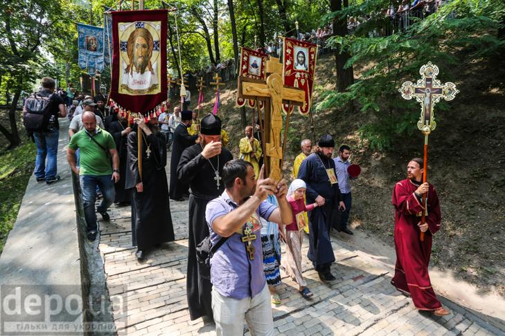 Як УПЦ МП хрестило Русь на Володимирській гірці - фото 14