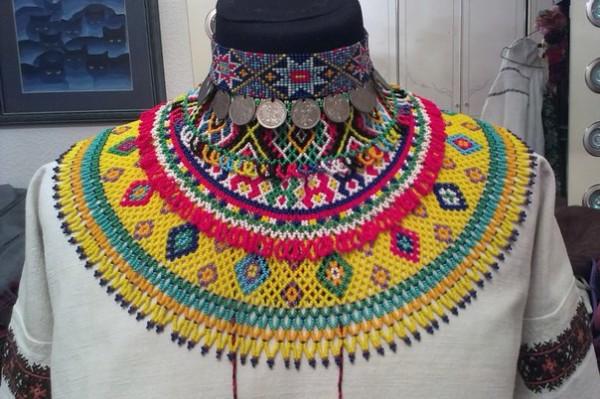 Які комірці з бісеру носили лемківські жінки - фото 6