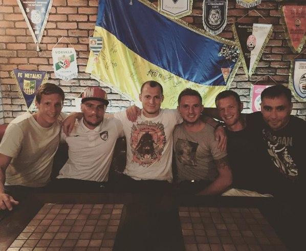 """Як гравці """"Дніпра"""" проводжали Зозулю до Іспанії - фото 1"""