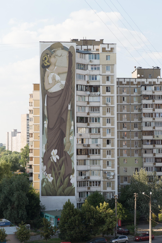 На одному з будинків Києва стріт-артист Fikos створив найбільшу візантійську фреску у світі - фото 3