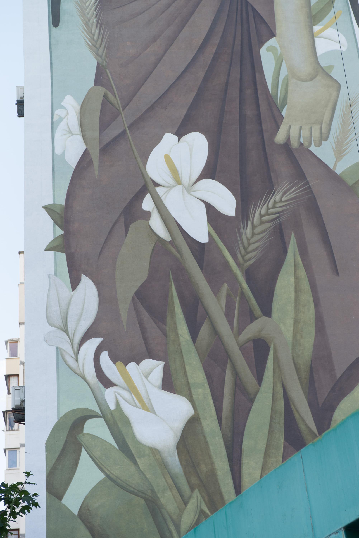 На одному з будинків Києва стріт-артист Fikos створив найбільшу візантійську фреску у світі - фото 2