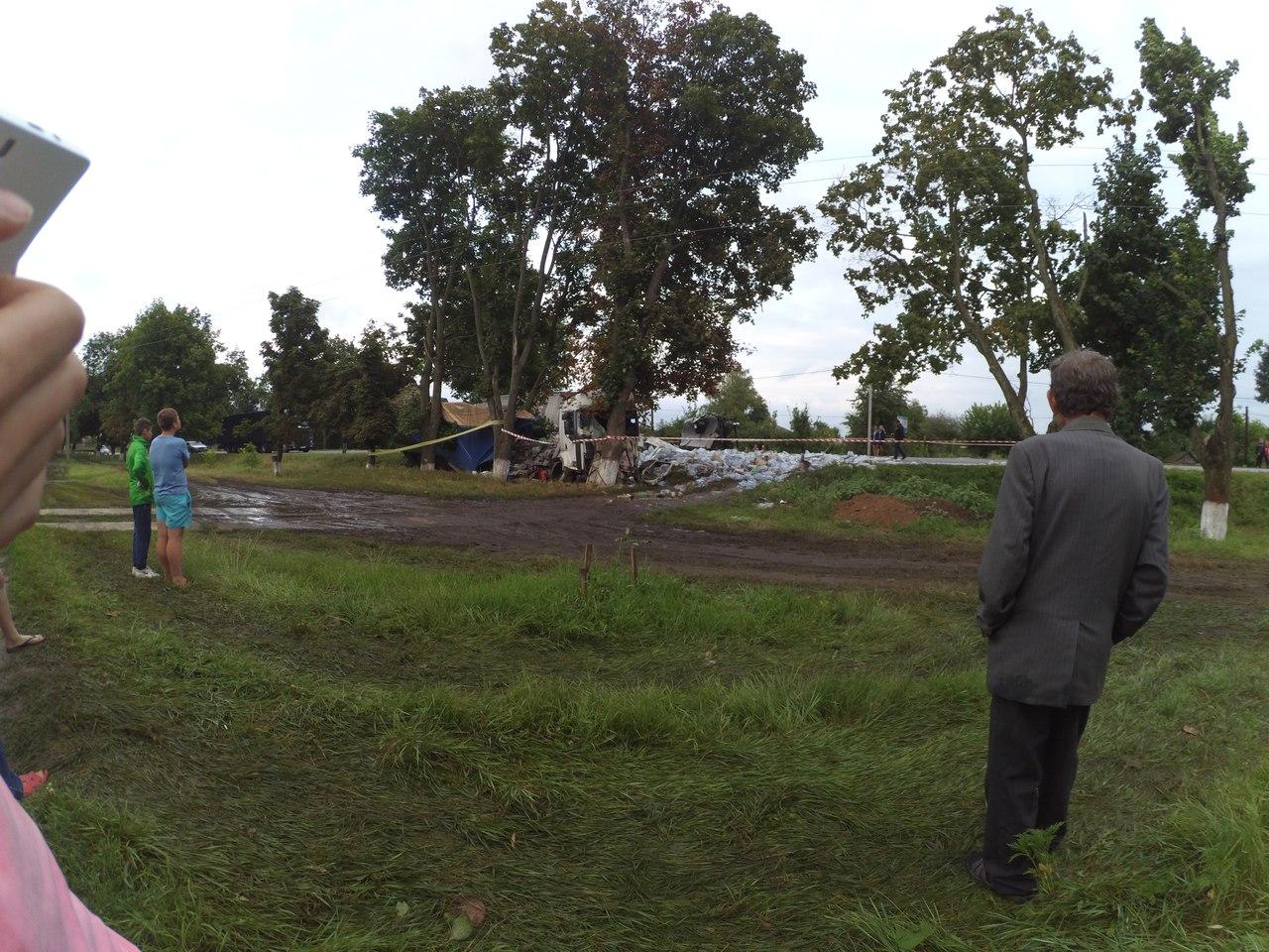 Під Харковом зіткнулися фури: одна влетіла в дерево, у іншої відрізало кабіну - фото 3