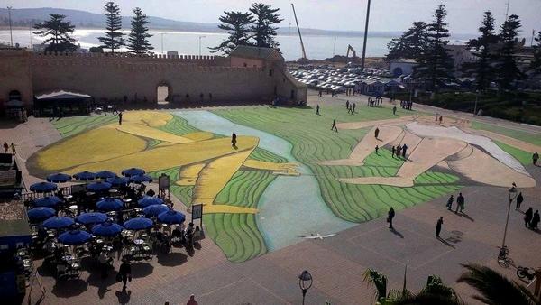 Італієць створив велетенське графіті на марокканські площі   - фото 4