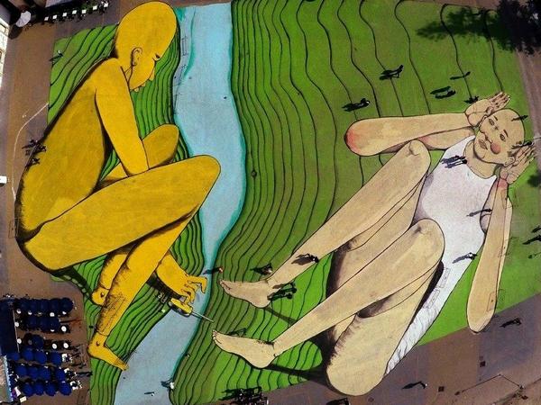 Італієць створив велетенське графіті на марокканські площі   - фото 5