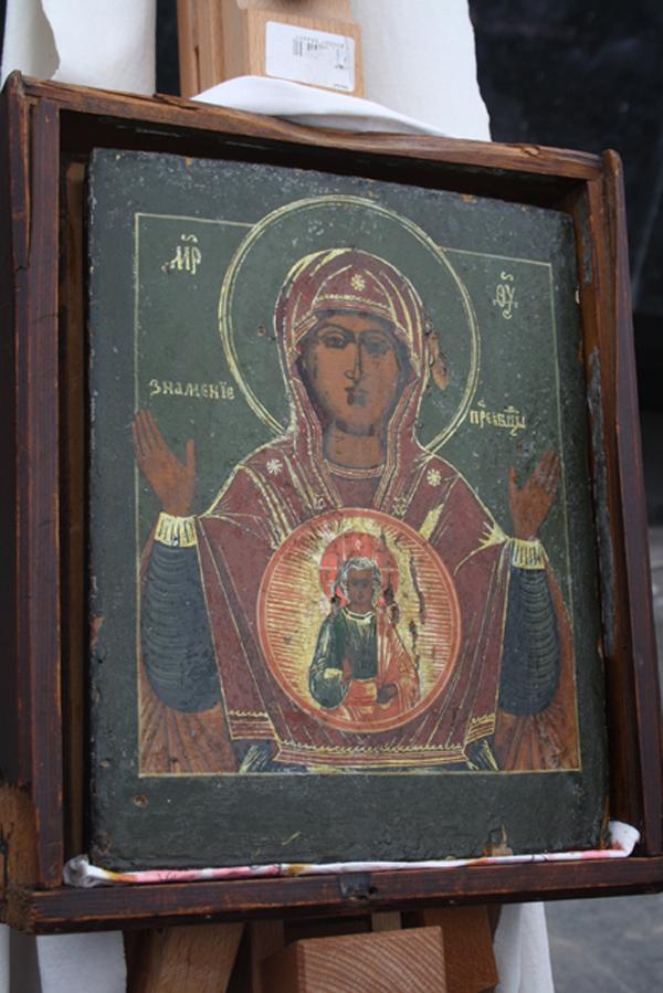 Икона божьей матери знамение фото