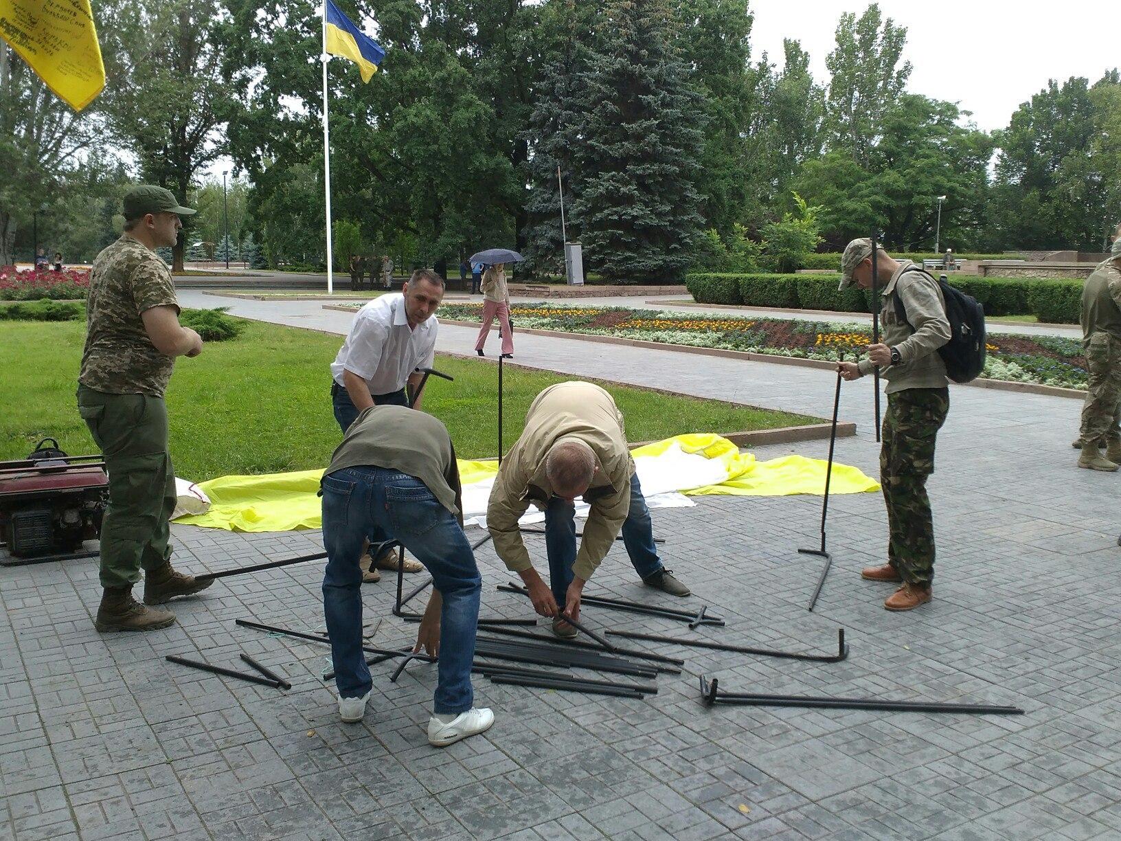 На пікет під Миколаївську ОДА приїхала самооборона Одеси