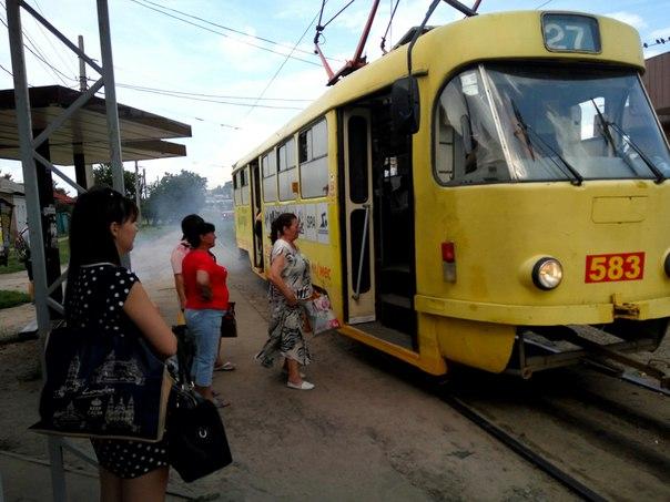 У Харкові задимився трамвай - фото 1