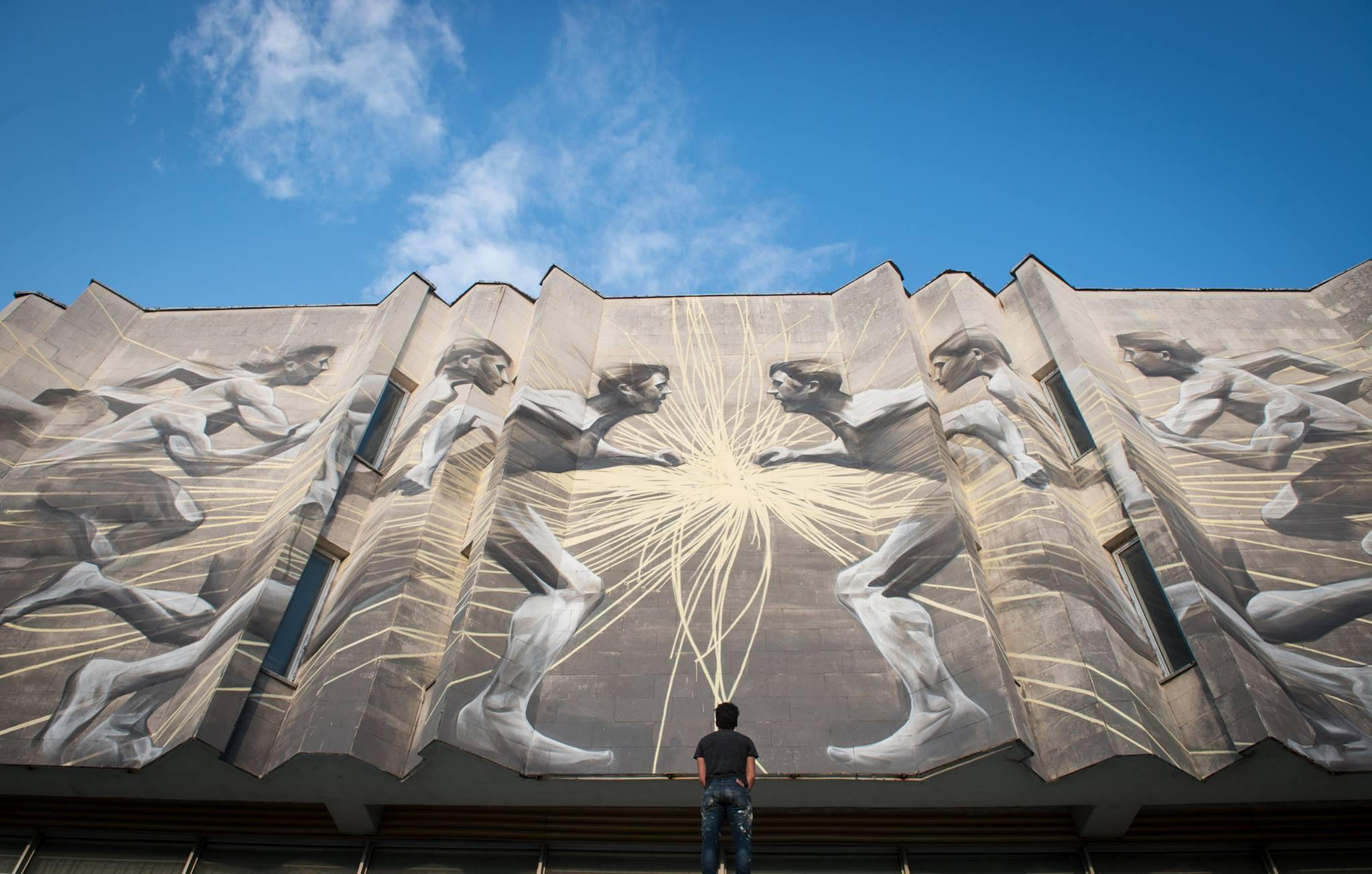 """Канадський стріт-артист Лі-Хілл розписав Центр культури та мистецтв """"КПІ"""" - фото 1"""