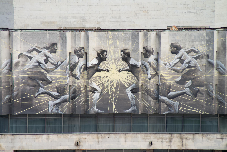 """Канадський стріт-артист Лі-Хілл розписав Центр культури та мистецтв """"КПІ"""" - фото 4"""