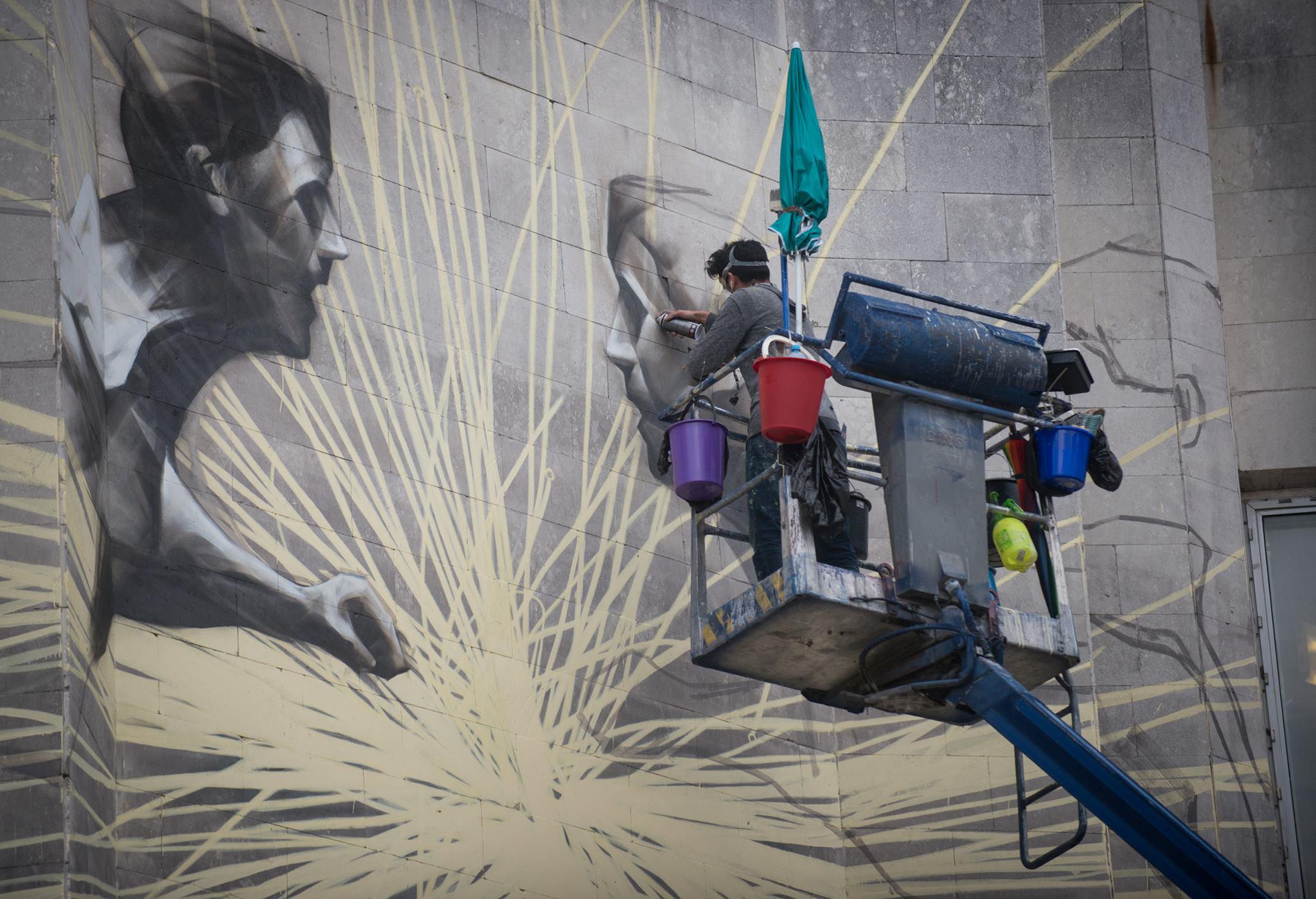 """Канадський стріт-артист Лі-Хілл розписав Центр культури та мистецтв """"КПІ"""" - фото 3"""