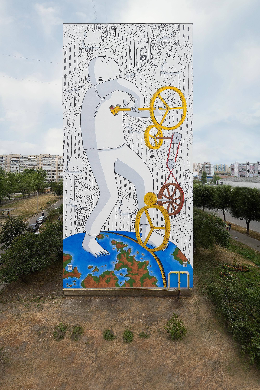 Італійський художник Millo показав справжню любов у Києві - фото 1